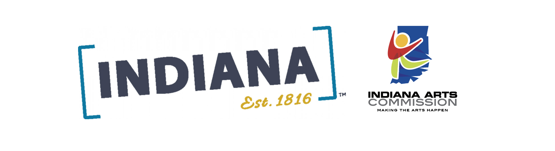 Visit Indiana and Indiana Arts Commission logos