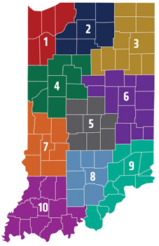 Indiana Districts EMA Map
