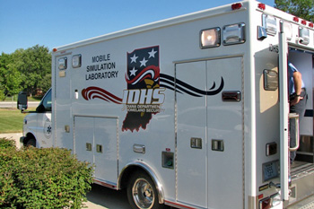 EMS Mobile Simulation Laboratory ambulance outside