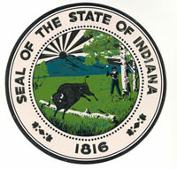 IN State Seal Sticker