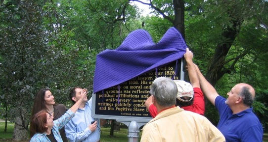 Unveiling an Indiana Historical Marker