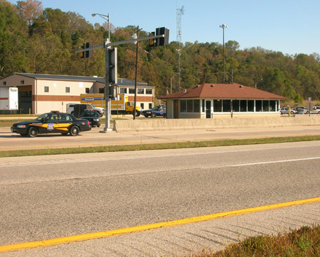 West Harrison Weigh Station at the Indiana/Ohio state line on I-74
