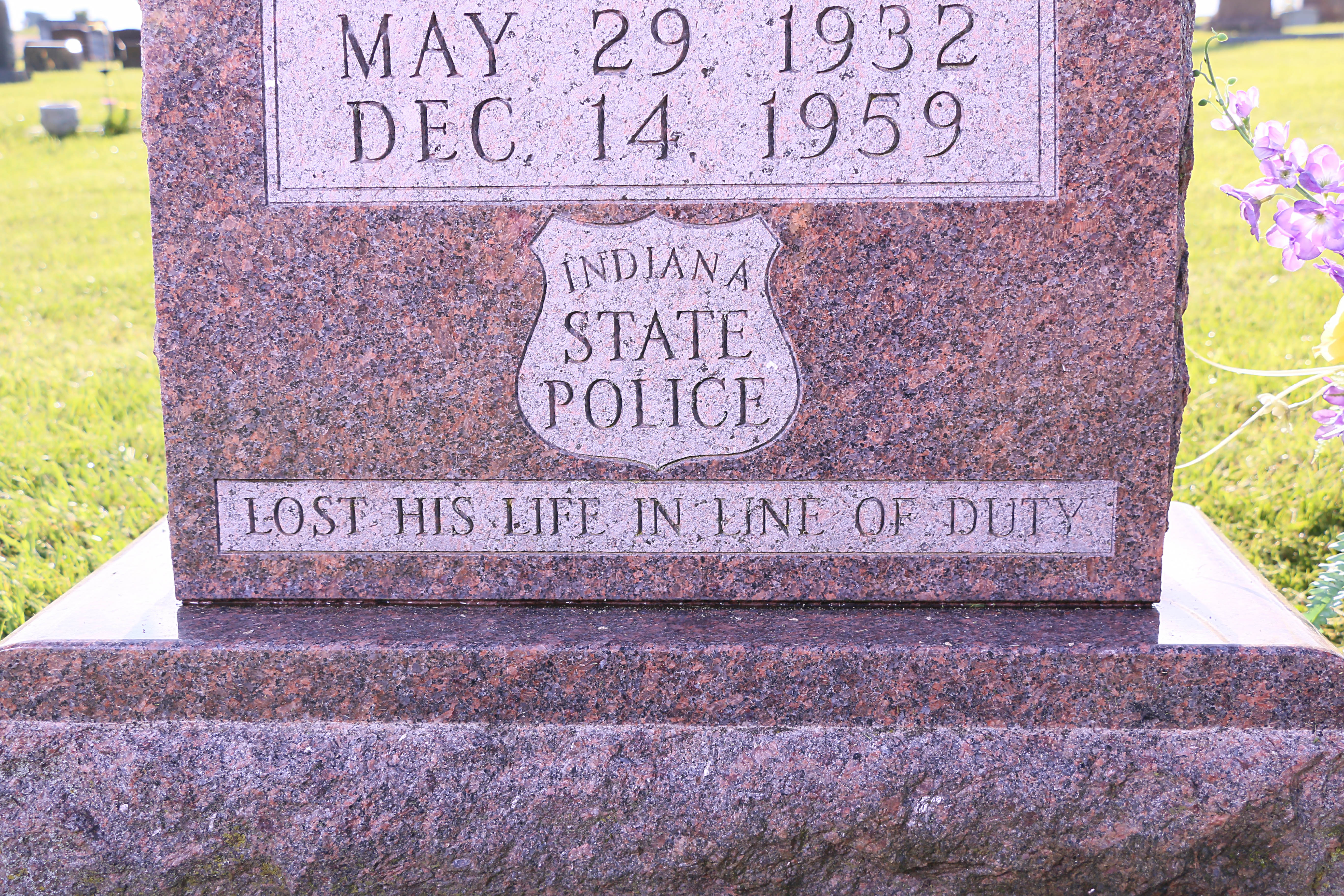 ISP Headstone - Line of Duty close-up