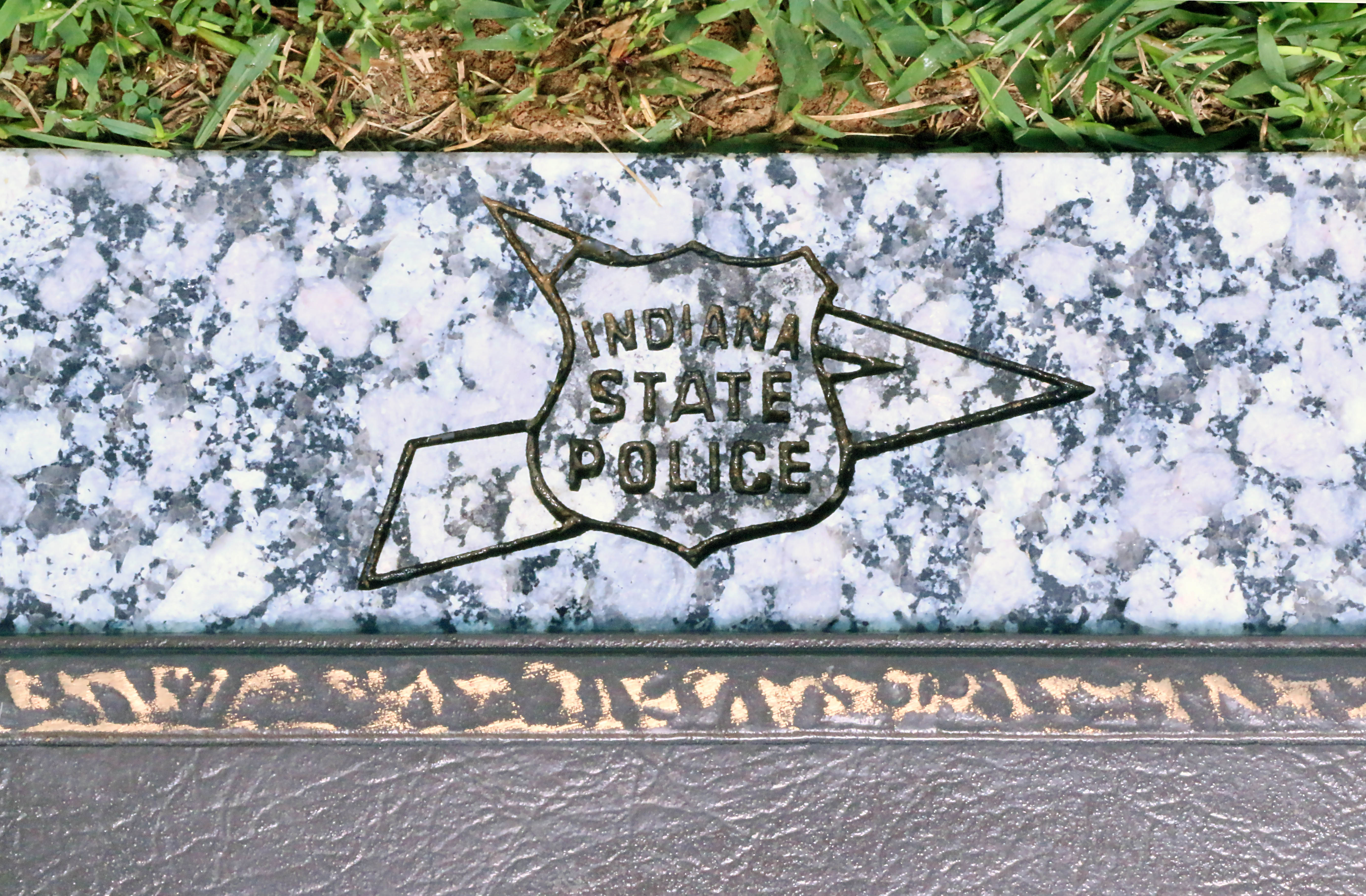 Headstone close-up - ISP Shield