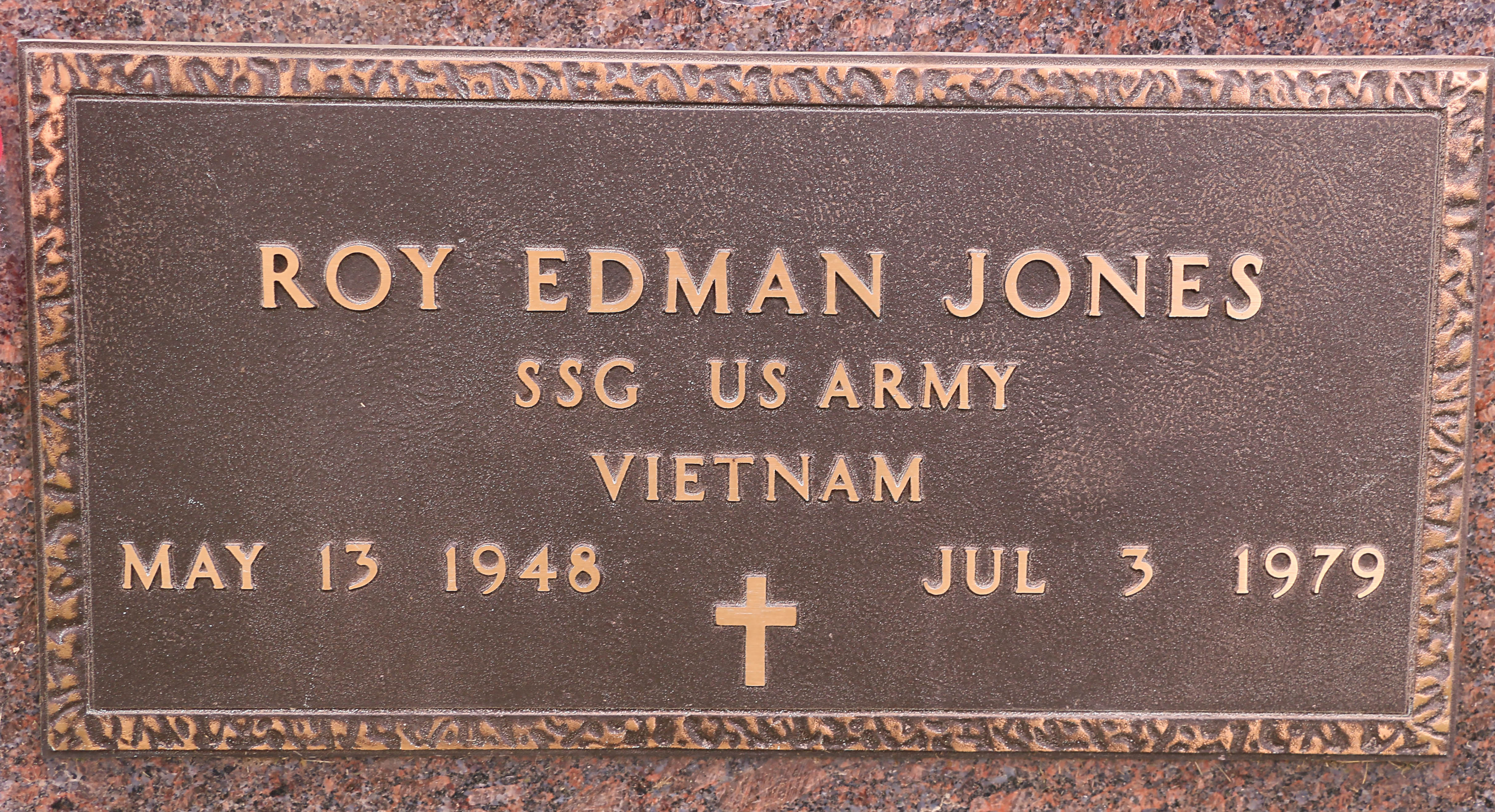 Headstone close-up - Military plaque